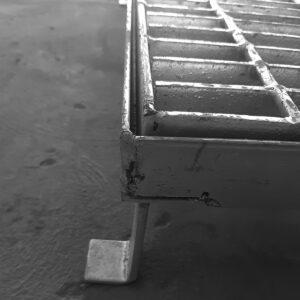 Rejilla de Acero .50 X 1.50 (Con contramarco)